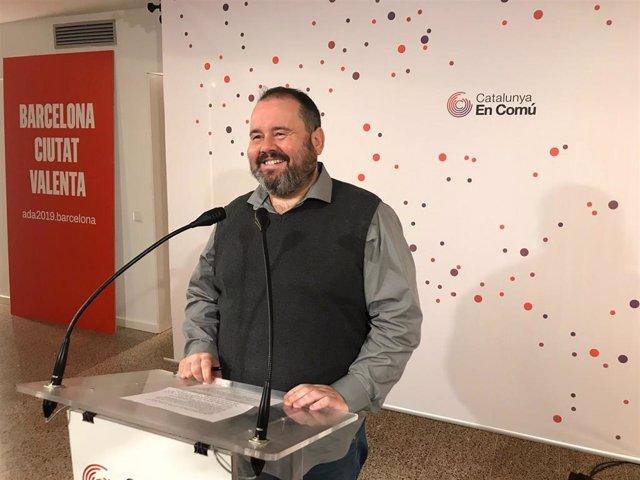 El portavoz de CatComú, Joan Mena