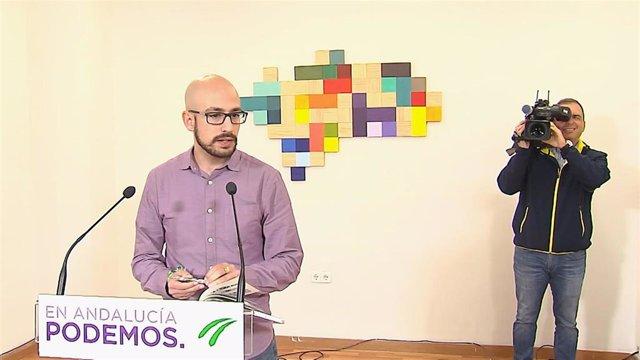 Rueda de prensa de la Secretaría Política y de Comunicación de Podemos Andalucía