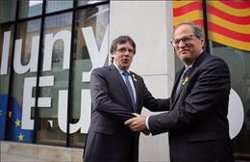 Puigdemont pronunciarà la seva conferència en un hotel de Brussel·les en no poder fer-ho al PE (@GOVERN - Archivo)