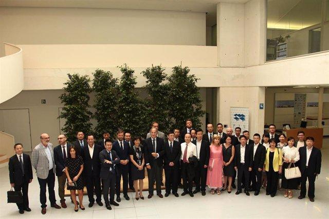 Una delegación china visita el PTS