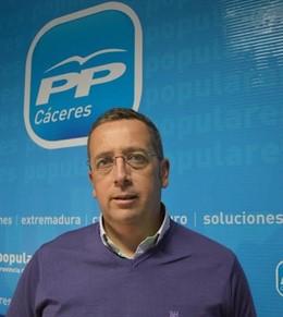 Emilio Borrega, portavoz del PP en la provincia de Cáceres