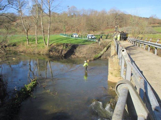 Limpieza del río Nora en Llanera