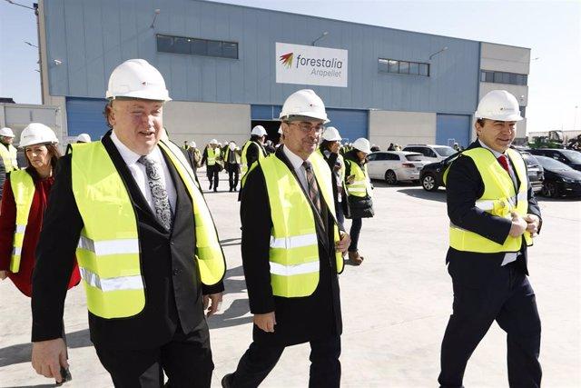 Lambán ha visitado hoy la planta de Arapellet en Erla (Zaragoza)