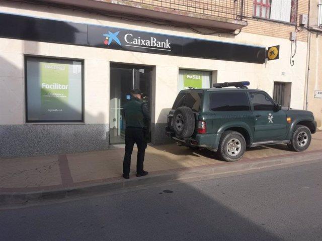 Atraco en una oficina bancaria en Sartaguda