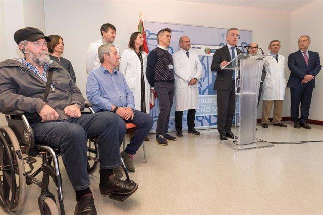 Urkullu anuncia la mejora de la Unidad de ELA de Basurto con un servicio de psic