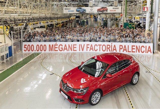 La planta de Renault en Palencia produce la unidad número 500.000 de la cuarta g
