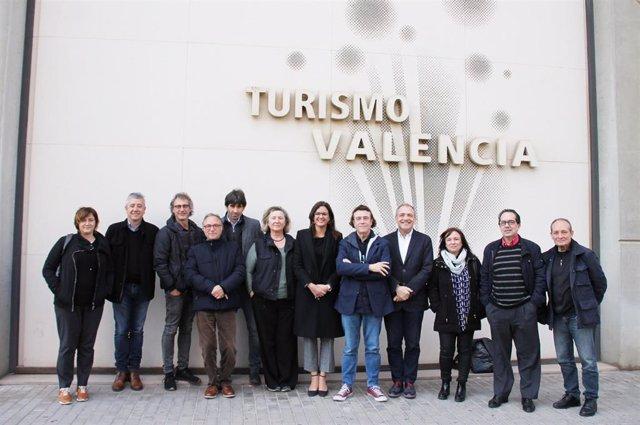 Reunión de Sandra Gómez con el sector del cine valenciano