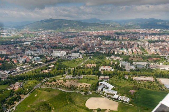 Panorámica del capus de la Universidad de Navarra