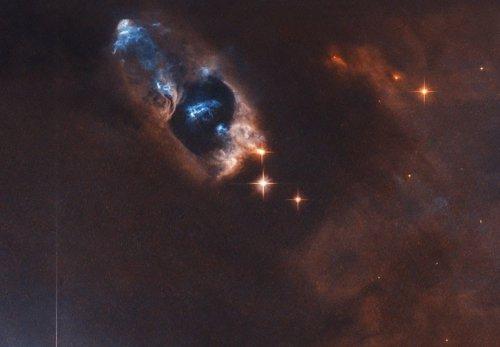 La 'pístola humeante' de una estrella recién nacida