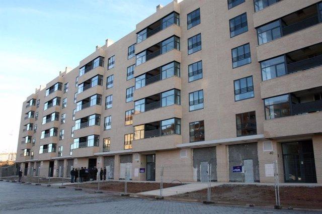 Viviendas, edificio, bloque pisos