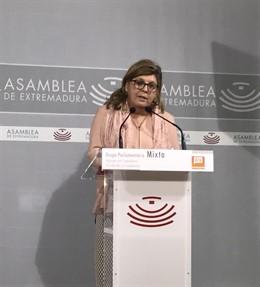 La diputada de Cs en la Asamblea de Extremadura, María Victoria Domínguez