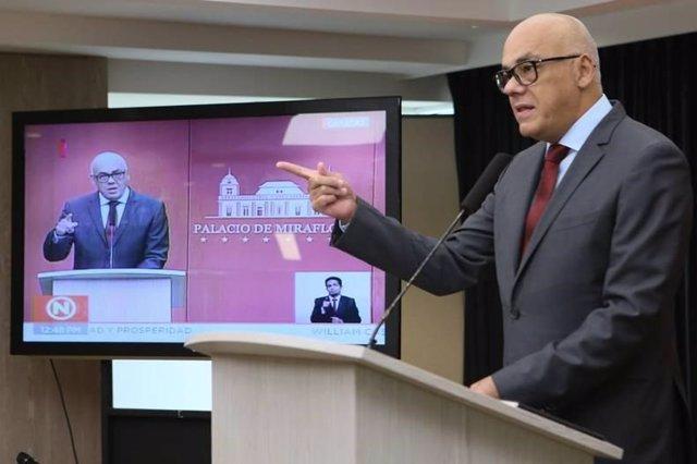 El portavoz del Gobierno de Venezuela, Jorge Rodríguez