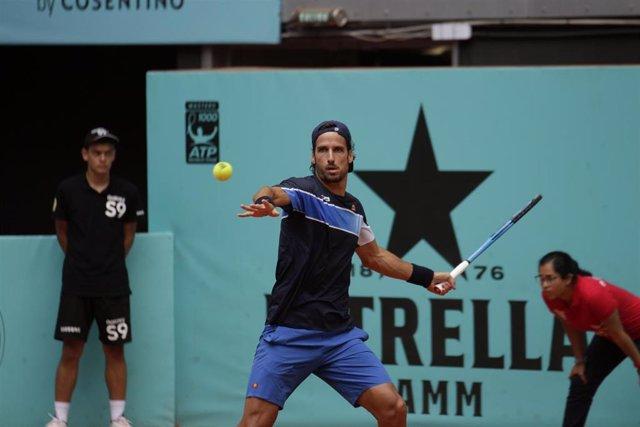 Feliciano López en el Mutua Madrid Open