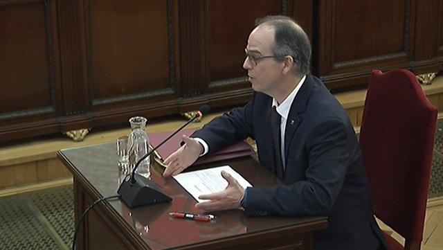 Interrogatorio a Jordi Turull en el juicio por el 'procés'
