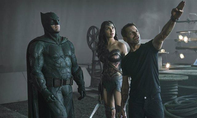 Zack Snyder en el rodaje de Liga de la Justicia
