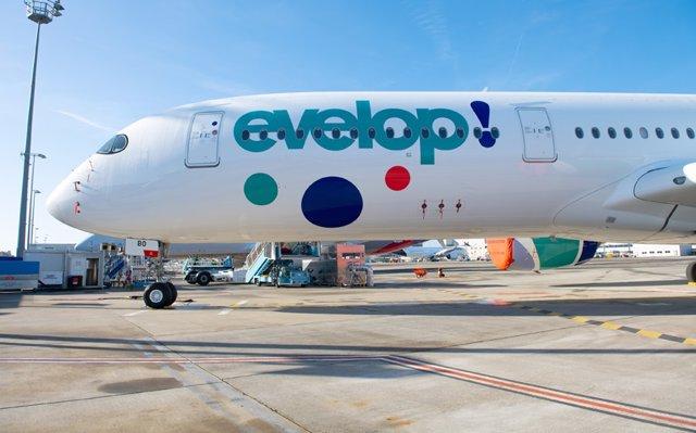 El primer A350-900 de Evelop en su fase final