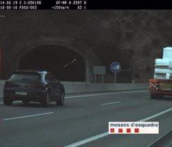 Multen dos cops en un dia un conductor per excés de velocitat a l'Eix Transversal (ACN)