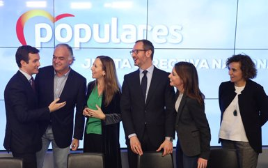 Casado resta credibilitat a la promesa de Rivera de no pactar amb el PSOE perquè el 2015 va pactar amb Sánchez (Marta Fernández Jara - Europa Press)