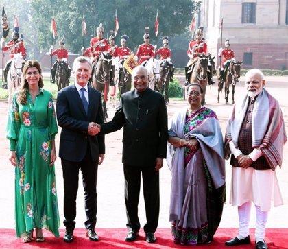 Argentina firma 10 acuerdos bilaterales con la India