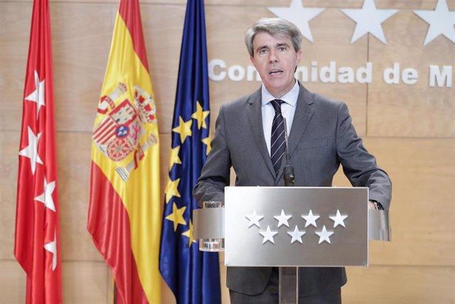 El presidente de la Comunidad de Madrid, Ángel Garrido, comparece en rueda de pr