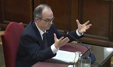 """Turull sobre la desobediència al TC: va haver-hi """"ponderació"""" entre la llei i el """"compromís amb els ciutadans"""" (SEÑAL DE TV DEL TRIBUNAL SUPREMO)"""