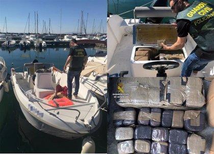 Desmantelada una organización criminal dedicada a la introducción de hachís a través del Mar Menor