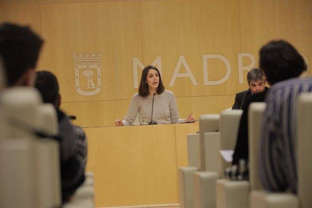 Rita Maestre atiende a los medios de comunicación en rueda de prensa