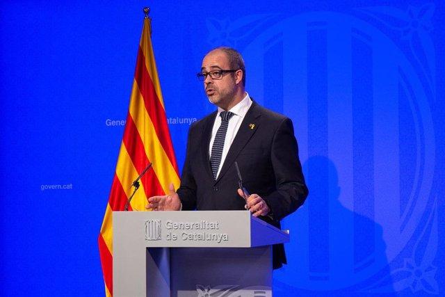 Rueda de prensa del Gobierno de Cataluña tras la celebración del Consejo Ejecuti