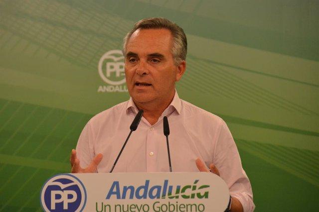 Juan Bueno, portavoz de infraestructuras del PP-A.