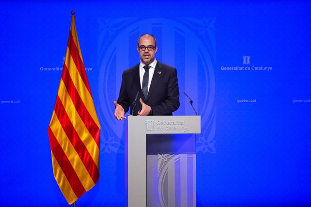Roda de premsa del Govern de Catalunya després de la celebració del Consell Exec