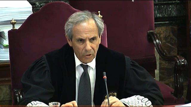 El fiscal Jaime Moreno durant la quarta jornada del judici del procés al Tribuna