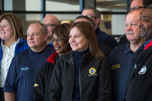 Mary Barra en la planta de Lansing (Estados Unidos)
