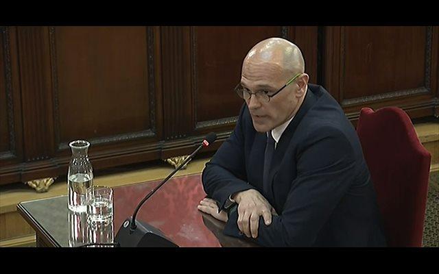 Romeva segueix l'estratègia de Junqueras i no contesta a les preguntes de la Fiscalia: 'És un judici polític'