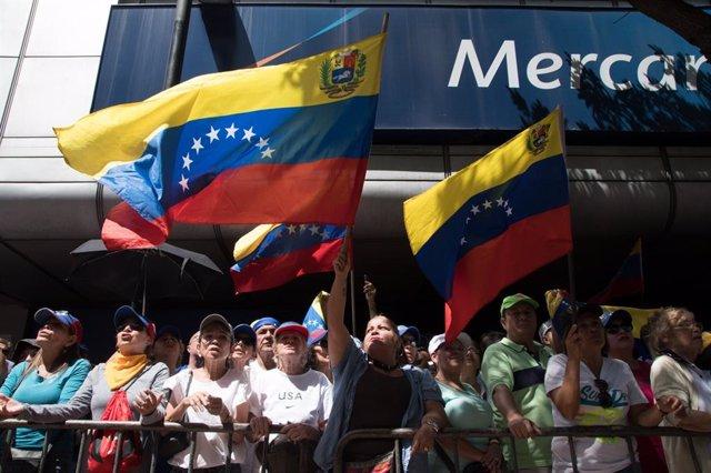 Manifestación en apoyo a Guaidó
