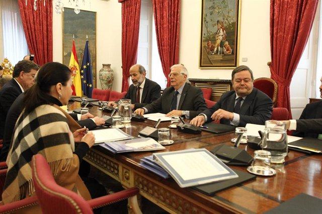Reunión del ministro de Asuntos Exteriores, Unión Europea y Cooperación, Josep B
