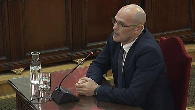 Raúl Romeva declara en el judici pel procés al Tribunal Suprem