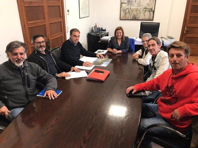 Reunión del departamento de Infraestructuras del Consell con el Gremio de Marger