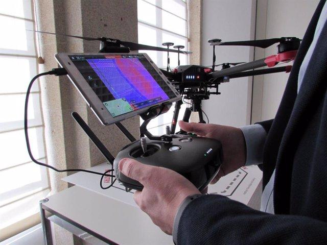 Empresas gallegas promueven un proyecto de gestión forestal con uso de drones