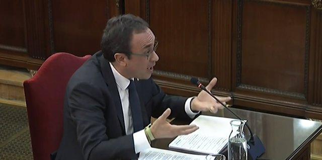 Interrogatori a Josep Rull en el judici pel procés