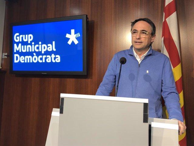 El portaveu del PDeCAT a Barcelona, Jaume Ciurana, en una foto d'arxiu