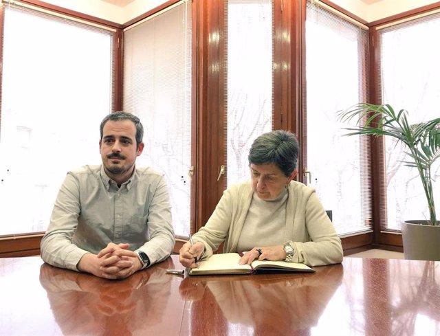Visita de la delegada del Govern central a Catalunya, Teresa Cunillera, a Esparr