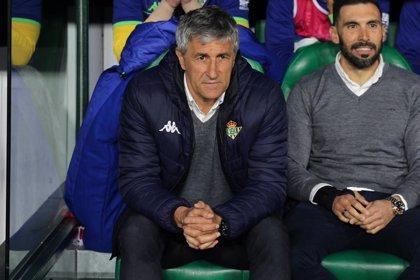 """Quique Setién: """"Estamos muy ilusionados por seguir en la Liga Europa"""""""