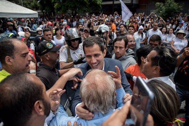Manifestación en apoyo de Juan Guaidó