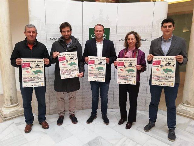 Presentación de la jornada deportiva solidaria que se celebrará en El Ronquillo