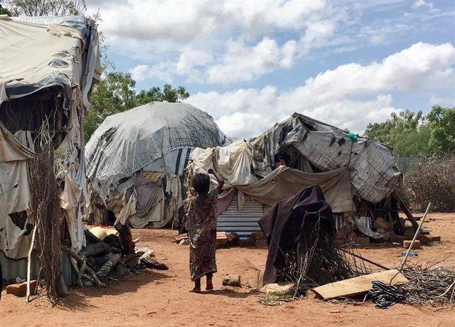 Refugiados en el campo de Dadaab