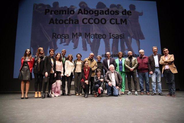 Valerio habla sobre reforma laboral en la entrega del premio Abogados de Atocha