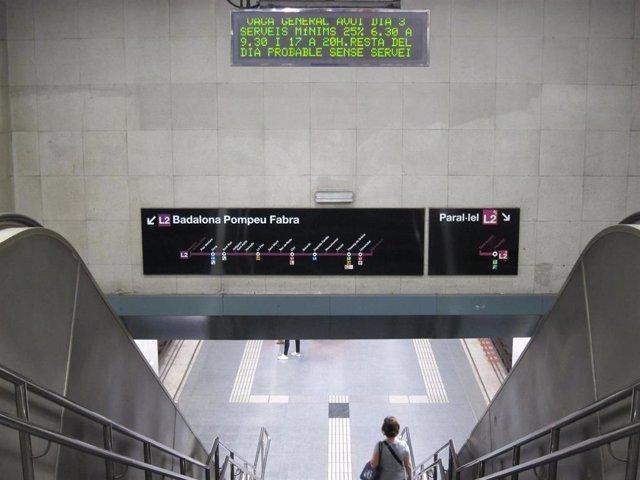 Paro general 3 octubre, metro, Barcelona/ARHIVO