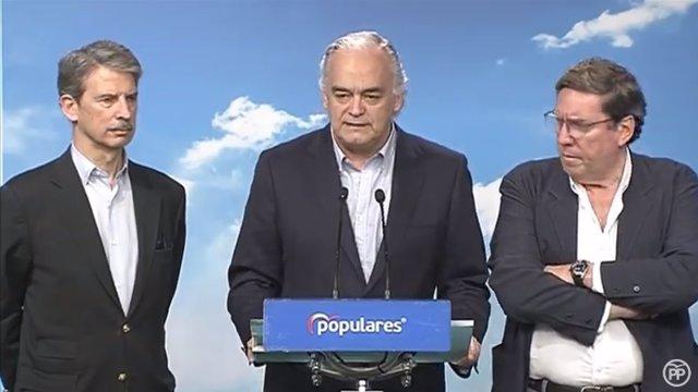 Rueda de prensa de Esteban González Pons tras la expulsión de Venezuela de la de