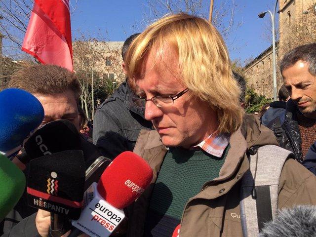 Sergi Perelló (Intersindical-Csc), en declaracions als mitjans