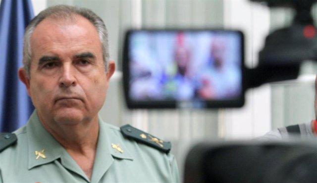 El general jefe de la IV Zona de la Guardia Civil, Manuel Contreras, valora la c